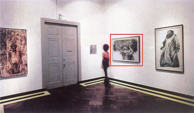The present lot installed in Three Graphic Artists, Los Angeles County Museum of Art, January 26, 1971 – March 7, 1971.