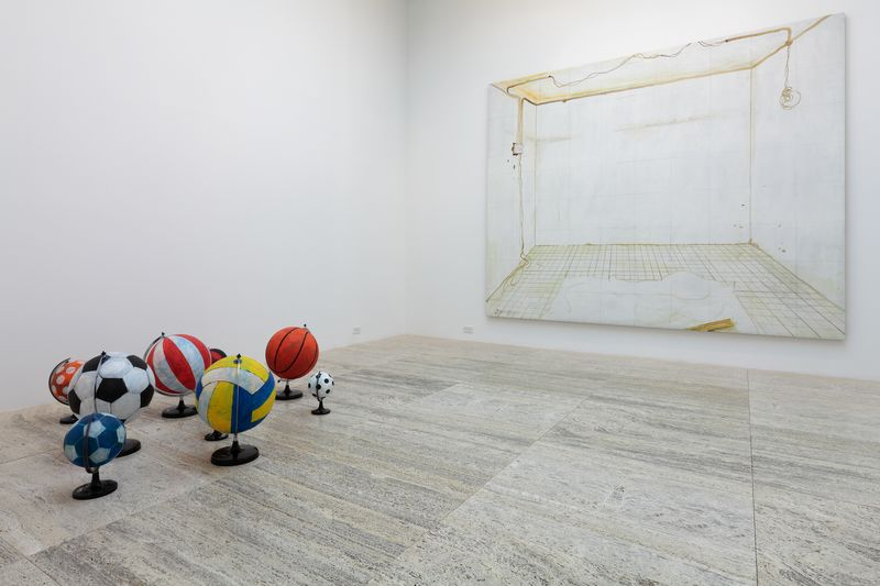 Installation view, A Bunch of Balls at Hauser & Wirth, New York, 2011